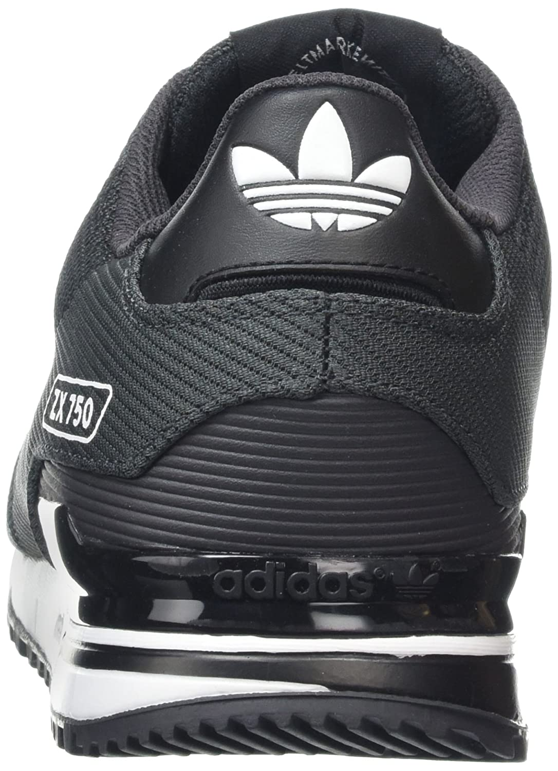 usa adidas mens zx 750 woven low top sneakers shadow core black ftwr white  12 uk cd2e342db