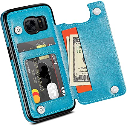 Amazon.com: HianDier Funda tipo cartera para Galaxy S7 ...