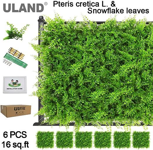 Paneles de hojas de hiedra artificial, decoración de plantas de ...