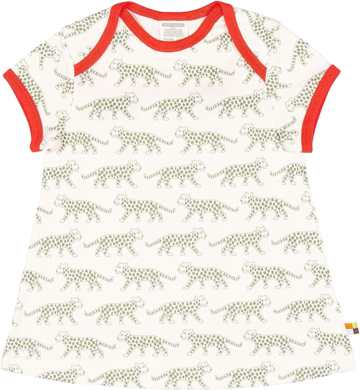 aus Bio Baumwolle proud Kleid mit Druck loud GOTS Zertiziziert Vestito Bambina