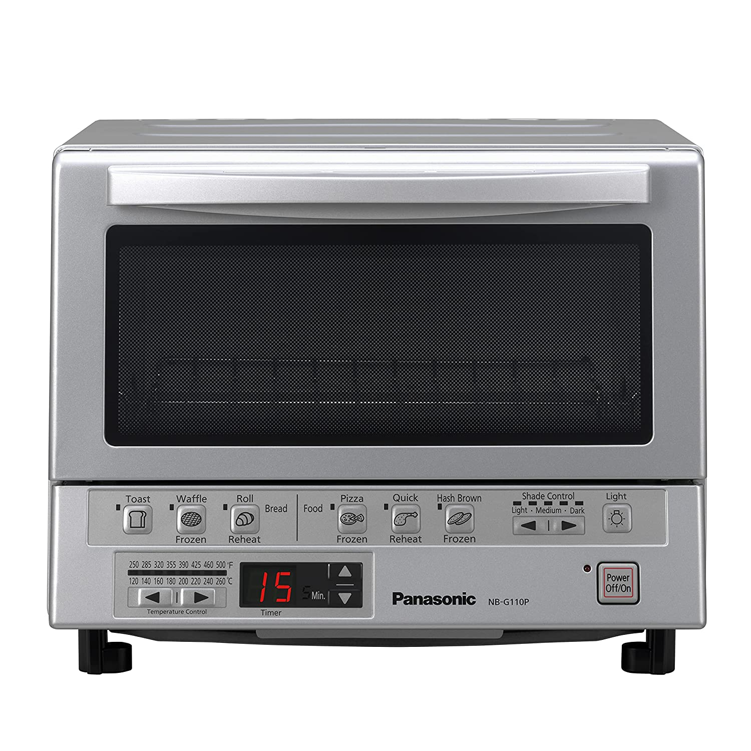 Panasonic NB-G110P 410 gallons Toaster Oven, Silver