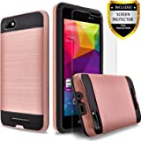 BLU Advance 5.0 HD Case, BLU Dash X2 Case, Circlemalls 2-Piece Style Hybrid Shockproof Hard Case Cover With [Premium Screen Protector] And Touch Screen Pen (Rose Gold)