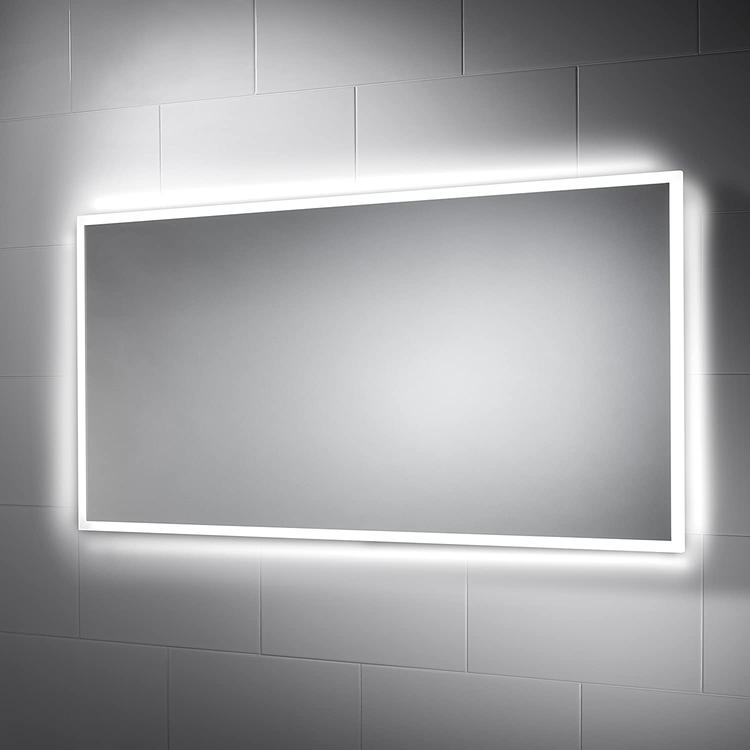 Taron LED Bathroom Mirror 1200mm X 600mm With Built In Demister Pad And Motion