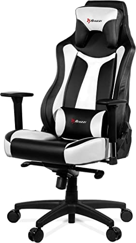 Arozzi Vernazza Series Super Premium Gaming Racing Style Swivel Chair, White