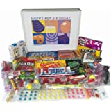 Woodstock Candy 40th Birthday Gift Box of Retro Nostalgic Candy for Men and Women
