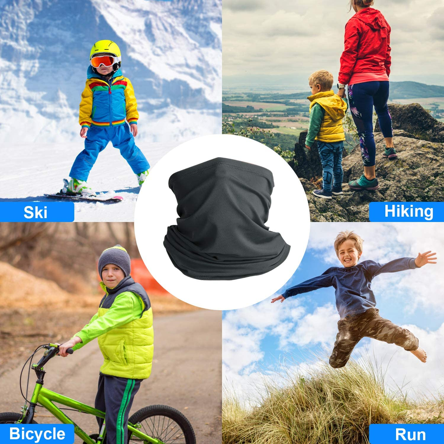 Breathable Face Cover Sun Dust Protection for Children Boys and Girls Multi Use Summer Cooling Neck Gaiter Neck Scarf Headband Kids Bandanas Face Mask