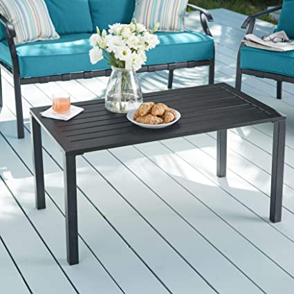 Image Unavailable. Image Not Available For. Color: BrylaneHome Steel Slat  Coffee Table
