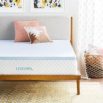 linenspa 2 inch gel infused memory foam mattress topper twin xl size