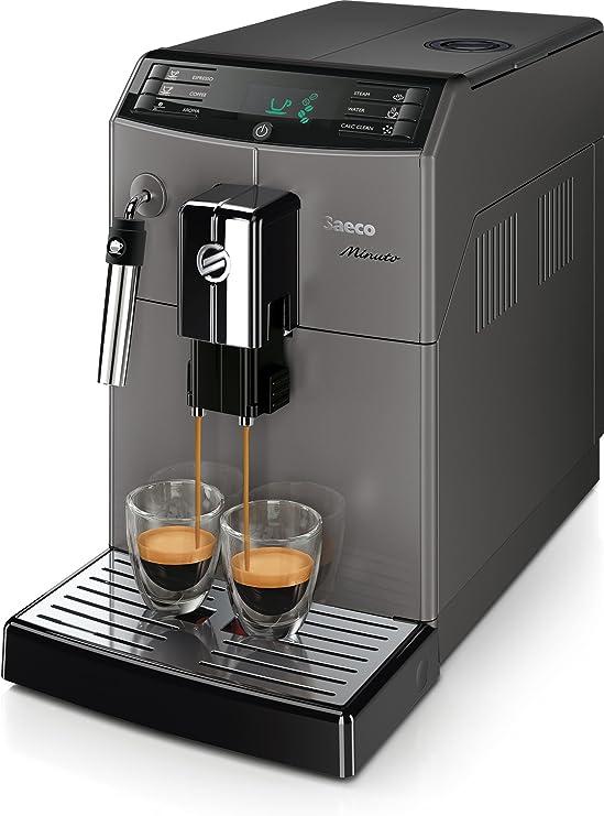 Saeco Minuto HD8861/11 - Cafetera (Independiente, Máquina espresso, 1,8 L, Molinillo integrado, 1850 W, Negro): Amazon.es: Hogar