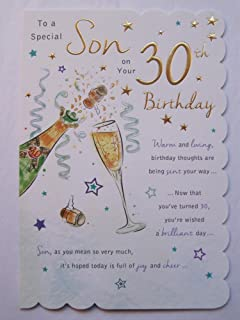 STUNNING TOP RANGE BEAUTIFULLY WORDED SON THIRTY 30TH BIRTHDAY GREETING