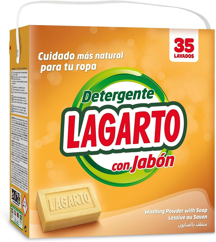 Lagarto Detergente en Polvo para Lavadora Al JABON. 2660 gr ...