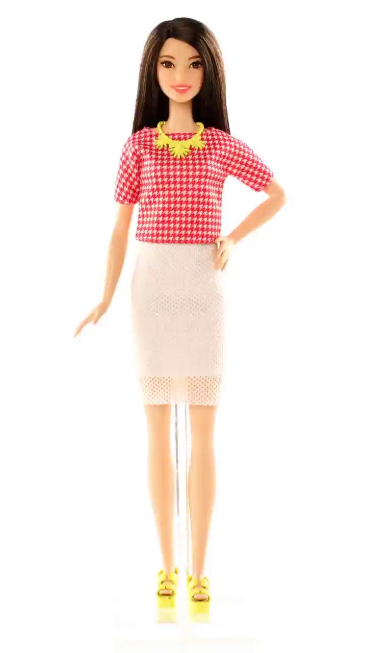 Barbie Fashionistas - Muñeca, Chispa Blanca y Rosa (Mattel DMF32 ...