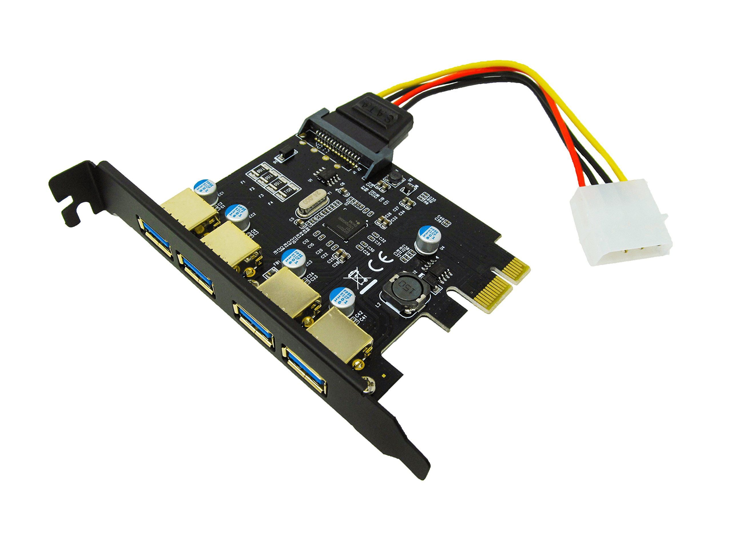 Honor Digital Techs PCI-E to USB 3.0 4 Port PCI Express Expansion Card (PCIe Card), Superspeed USB 3.0 Card with 15-Pin Power Connector for Desktops, Super Speed Up to 5Gbps by Honor Digital Techs (Image #5)