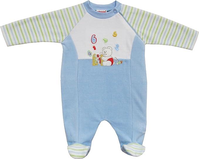 Schnizler Nicki Schlafanzug Bärenschule, Pijama para Bebé-Niños, Azul (Original 900)