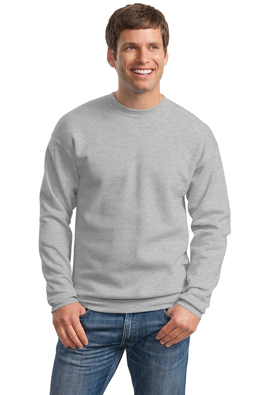 Hanes Mens ComfortBlend EcoSmart Crewneck Sweatshirt, 2XL, Light Steel P160