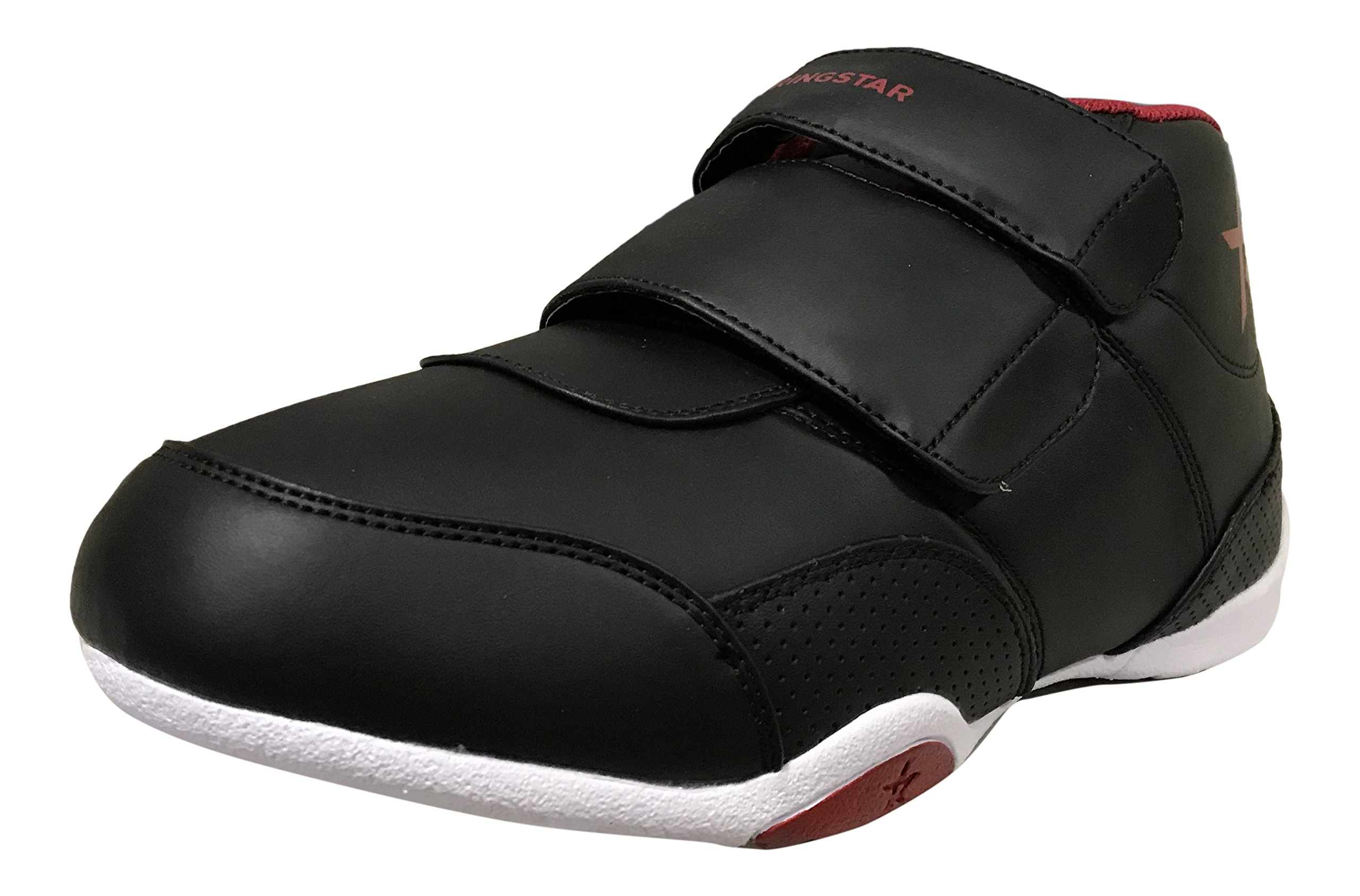 Ringstar Unisex Fight Pro V2 Martial Arts Shoes, Black/Red, Youth 2 by Ringstar