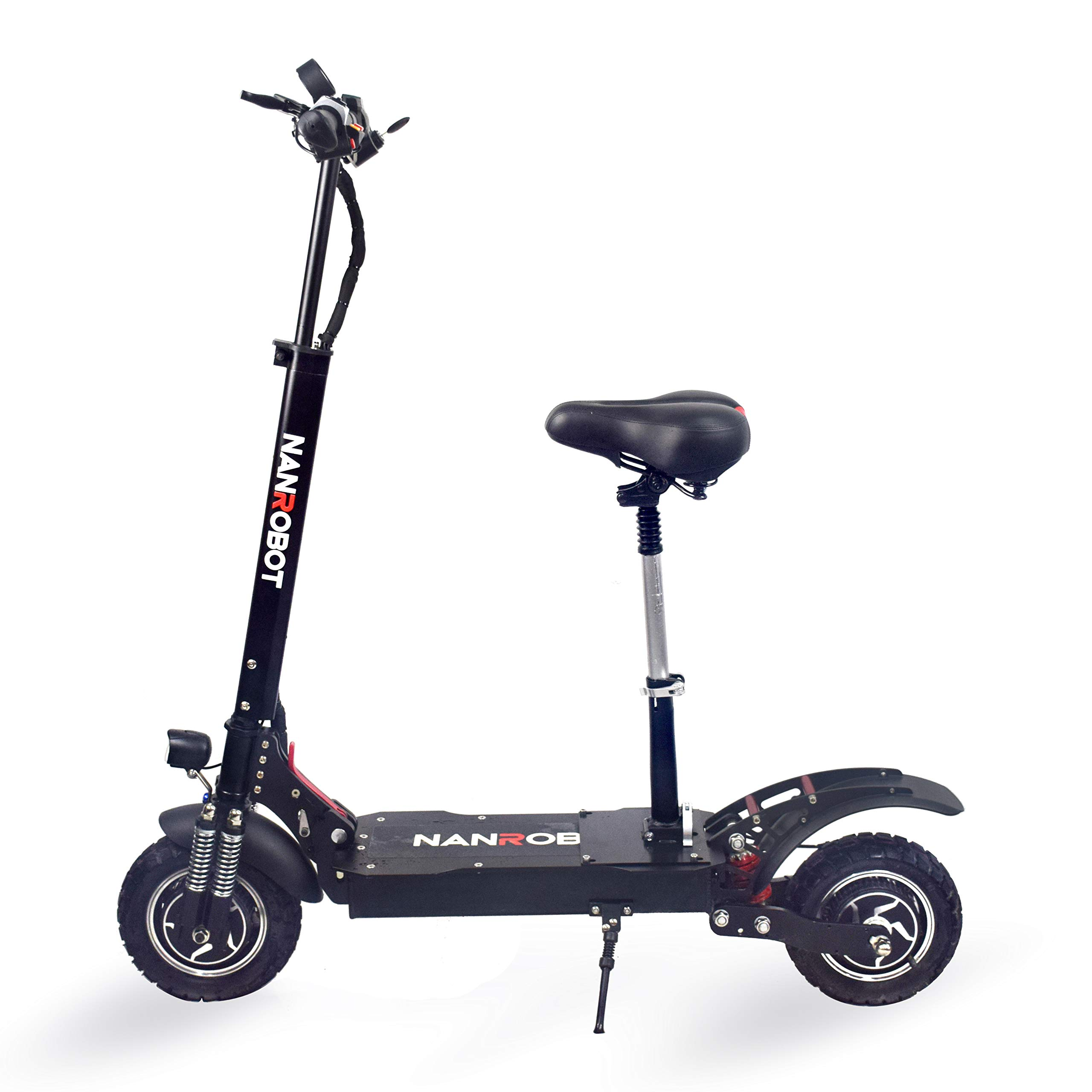 NANROBOT D4+ Electric Scooter -Portable Folding, 40 MPH and 45 Mile Range of Riding, 2000W Motor Power and 330lb Load