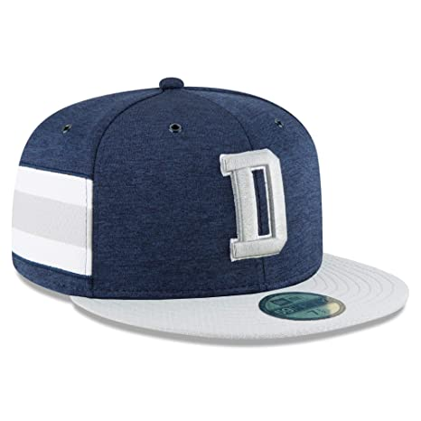 newest 34615 57451 New Era Dallas Cowboys 2018 NFL Sideline Home Official 59FIFTY Fitted Hat –  Navy Gray