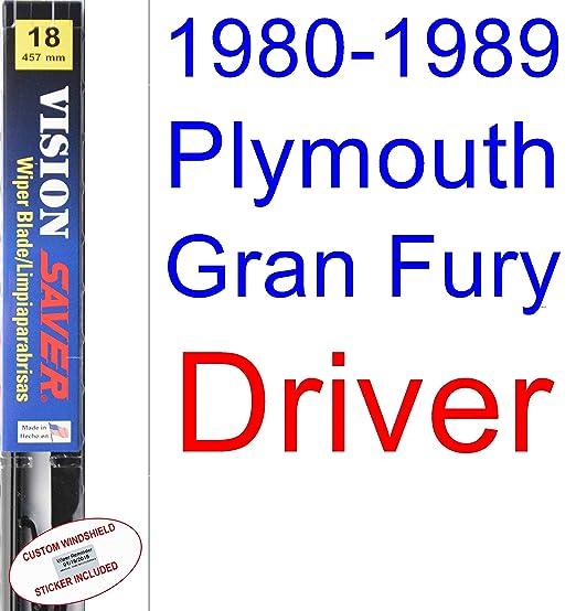 Amazon.com: 1980-1989 Plymouth Gran Fury Wiper Blade (Passenger) (Saver Automotive Products-Vision Saver) (1981,1982,1983,1984,1985,1986,1987,1988): ...