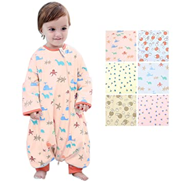 c5d7dd4e16 Image Unavailable. Image not available for. Color  GEX Baby Sleep Sack 100% Cotton  Wearable Blanket ...