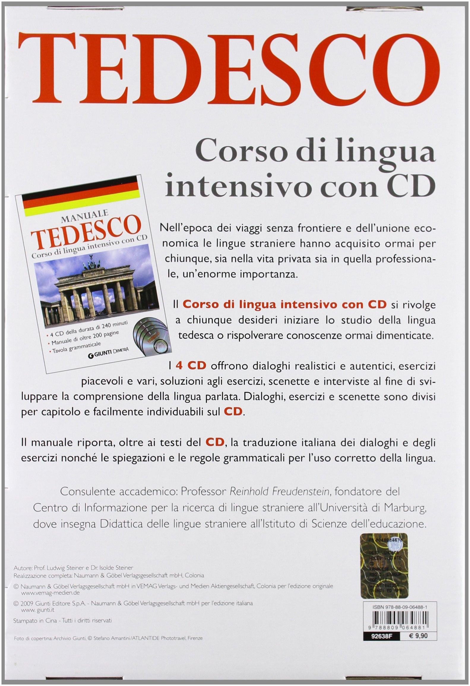 Corso di lingua. Tedesco intensivo. Con 4 CD Audio: 9788809064881: Amazon.com: Books
