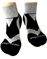 BEST Organic Cotton Ankle Socks Women & Men Premium Quality Extra Soft Black Gray Pack of 3 Pairs US Size 7-10