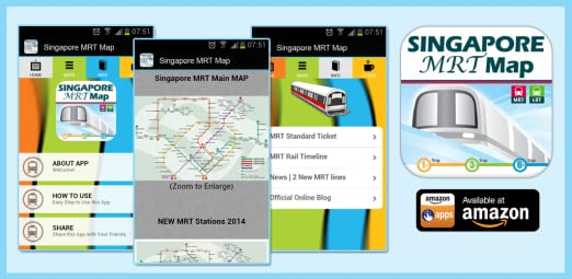 Singapore Subway Map 2014.Amazon Com Singapore Mrt Map Appstore For Android
