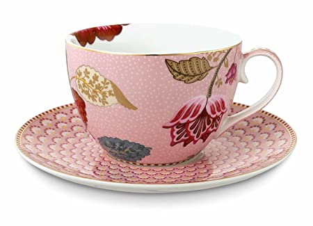 Pip studio tea cup with saucer blooming tales: amazon.co.uk: kitchen