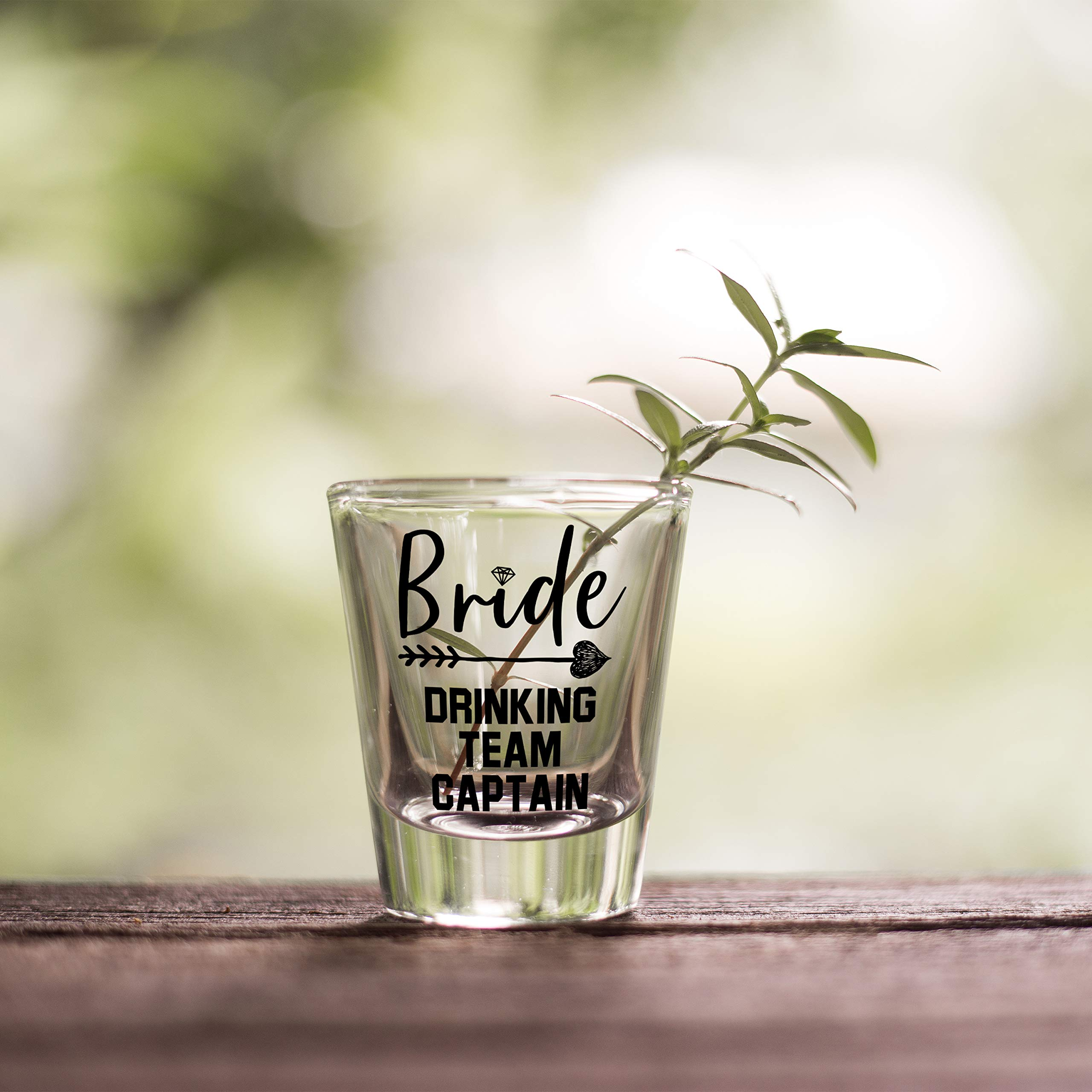 Bridesmaid Gifts Bride's Drinking Team Shot Glasses - Pack of 6 Bride's Drinking Team Member + 1 Bride's Drinking Team Captain - 1.5 oz - Bachelorette Party Favors by USA Custom Gifts (Image #3)