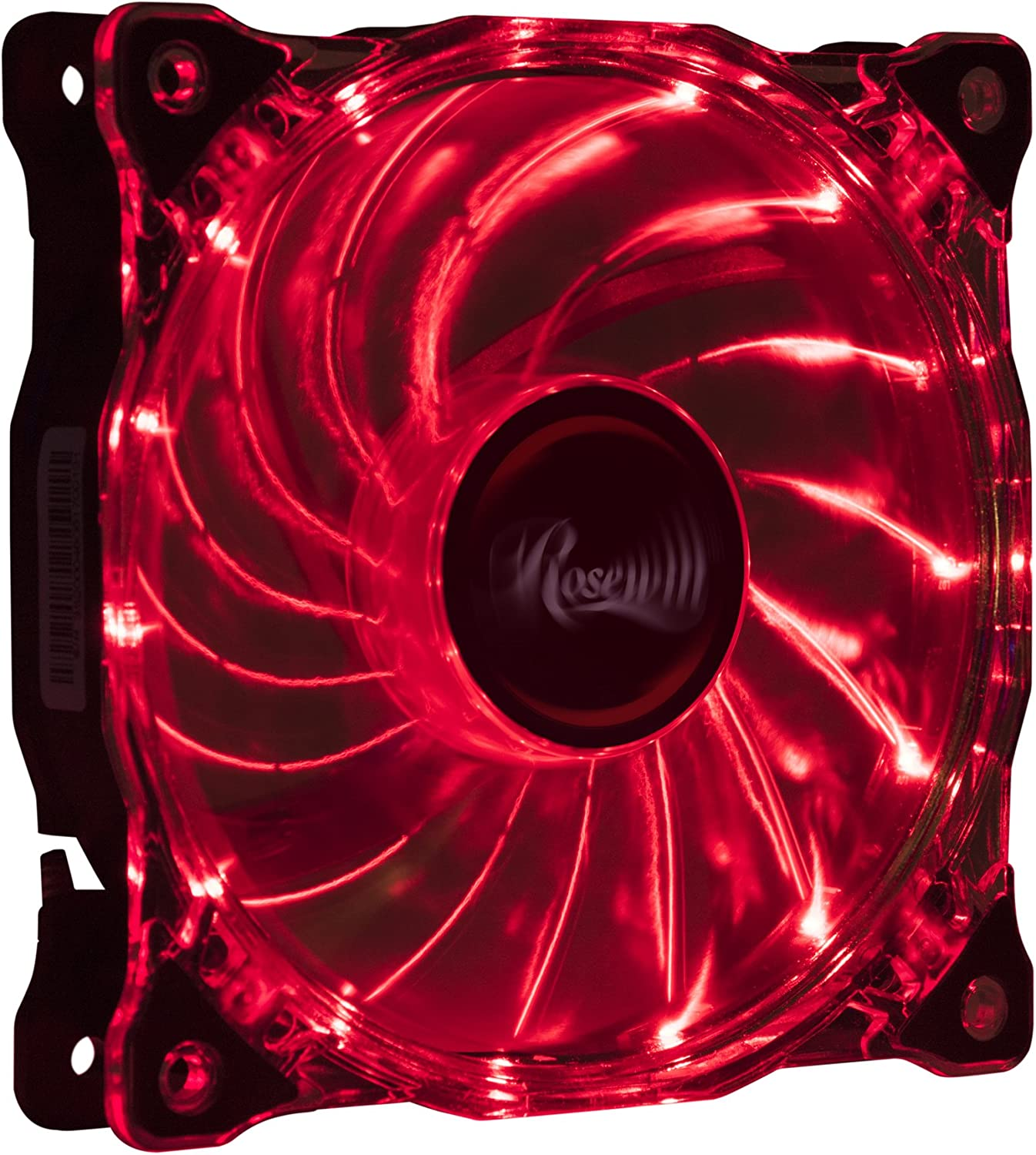 Rosewill 120mm CULLINAN Computer Case Cooling Fan with LP4 Adapter, Red LED Lights, Sleeve Bearing, Silent RFA-80RL