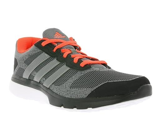 93ba98cb882 adidas Turbo 3.1 Mens Running Trainer Shoe Grey Red - UK 9  Amazon ...