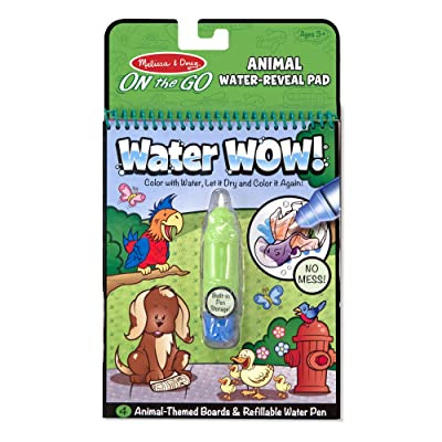 Melissa & Doug Water Coloring & Painting Book, (Water Wow Animal - On the Go Travel Activity): Melissa & Doug