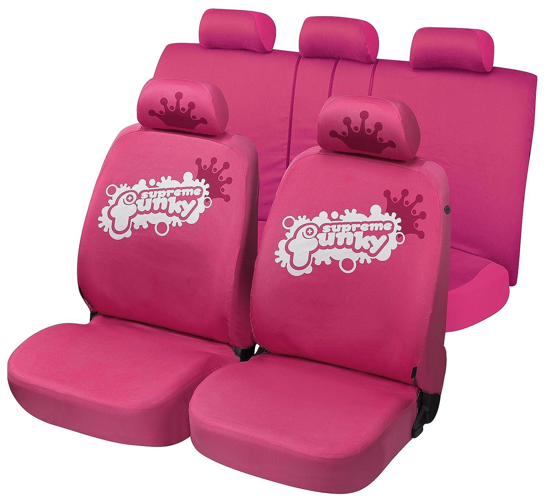 sedili Posteriori sdoppiabili R44S0838 compatibili con sedili con airbag rmg-distribuzione Coprisedili Rosa per Splash Versione 2008-2014 bracciolo Laterale