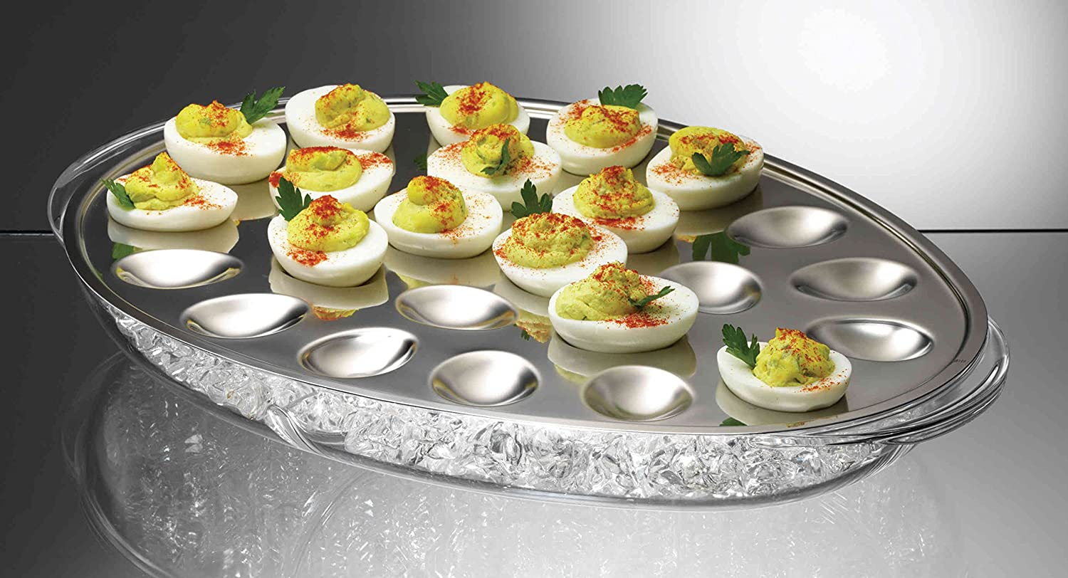 prodyne ic 24 iced eggs platter kitchen dining