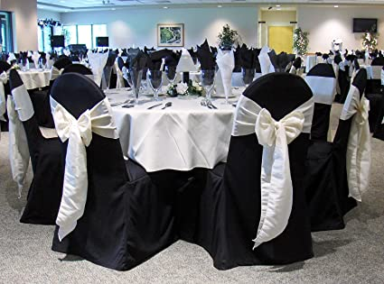 Terrific Black Banquet Chair Covers Set Of 10 Chair Sash Not Included Great For Weddings And Events Make Your Next Party Or Banq Ibusinesslaw Wood Chair Design Ideas Ibusinesslaworg