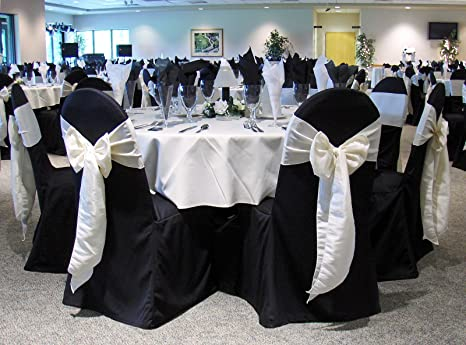Admirable Black Banquet Chair Covers Set Of 10 Chair Sash Not Included Great For Weddings And Events Make Your Next Party Or Banq Cjindustries Chair Design For Home Cjindustriesco