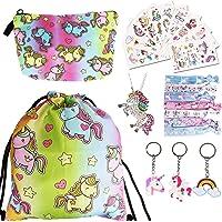 URAQT Eenhoorn koord tas set, 23 stuks eenhoorn geschenken voor meisjes, eenhoorn party gunsten tas vulstoffen voor…