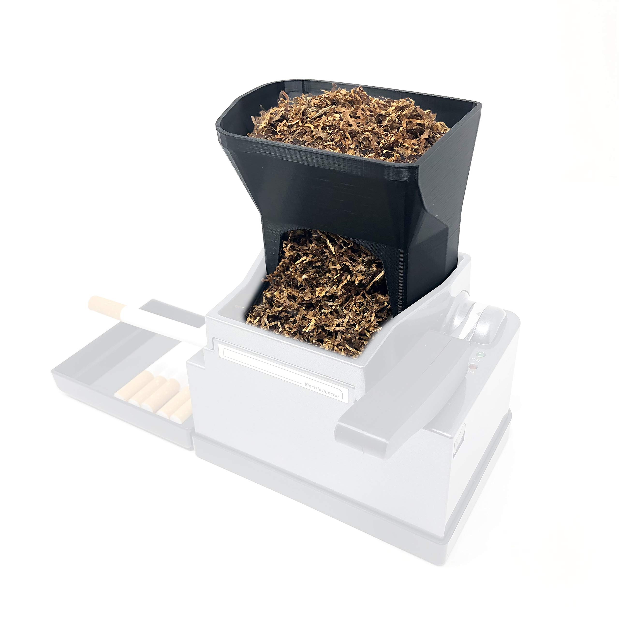 Ergo 3D Tobacco Hopper Accessory for Powermatic 2 & 2+ Electric Cigarette Rolling Machine Injector for Hand Rolled Smokes. Includes The Ergo 3D Hopper ONLY! (Powermatic Machine Sold Separately!)