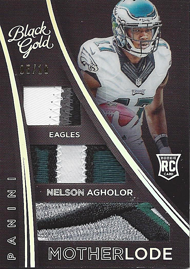 82608297fa0 Amazon.com: NELSON AGHOLOR 2015 Panini Black Gold Football MOTHERLODE (Game  Worn Jersey) 4-COLOR PRIME PATCHES Philadelphia Eagles Insert Relic NFL ...