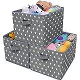 GRANNY SAYS Kid's Fabric Storage Bin Toy Storage Basket, Nursery Storage Closet Organizer Bins, Cute Star Pattern, Dark…