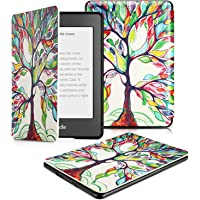 OMOTON Case Compatible with All-New Kindle Paperwhite (10th Generation-2018), Smart Shell Cover with Auto Sleep Wake Feature for Kindle Paperwhite 10th Gen 2018 Released, Love Tree