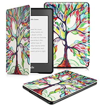 OMOTON Funda para Kindle Paperwhite (10ª Generación) Carcasa Kindle Paperwhite (2018 Lanzado), Sueño Automático, Cierre Magnético, Color Árbol de ...