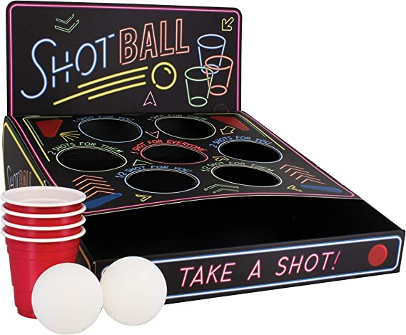 Paladone Shot Ball Party Beber Juego con Tazas, Bolas y Tabla, Multicolor, Approx. 27 x 24 x 6 cm: Amazon.es: Hogar