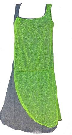 b661e8bae9cf30 Damen Sommerkleid Feierkleid Freizeitkleid Sportkleid Partykleid - Baumwolle  (L) Grün