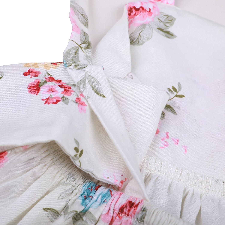 Flofallzique Vintage Floral Girls Dress Backless Easter Toddler Clothing for 1-10 Y