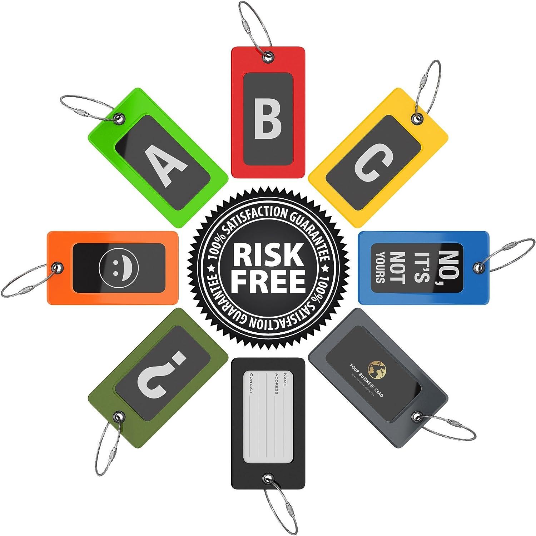 /Étiquettes /à Bagages et Valises TUFFTAAG pour Carte de Visite Tag PVC Flexible