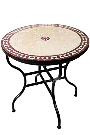 Orientalischer Handmade Ø 60 cm Mosaiktisch Gartentisch Beistelltisch M60-30 Neu