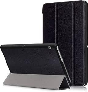 AGS-L03 Étui à rabat en cuir synthétique avec fonction de mise en veille/route automatique pour tablette Huawei MediaPad T3 10