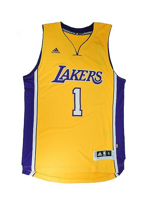 a5ee9570 Adidas Men's NBA Los Angeles Lakers D'angelo Russell #1 Swingman Gold Jersey  (