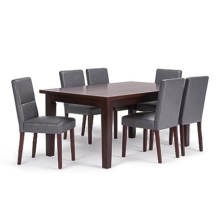 900bb4d908 Amazon.com: Simpli Home AXCDS7ASH-G Ashford 7 Piece Dining Set with ...
